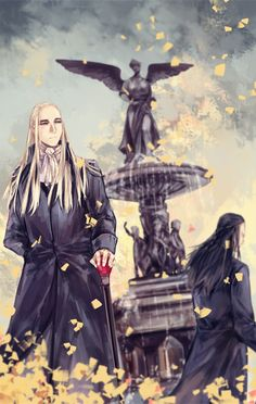 Elrond and Thranduil. Credit to the artist