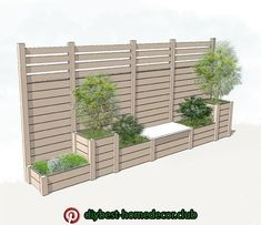 Bildergebnis für Pflanzgefäß mit Gitter - Helena Almeida - New Ideas Backyard Garden Design, Backyard Fences, Backyard Landscaping, Diy Garden, Diy Fence, Fence Ideas, Garden Beds, Home And Garden, Garden Privacy