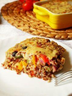 Pasticcio di quinoa con fagioli rossi e verdure
