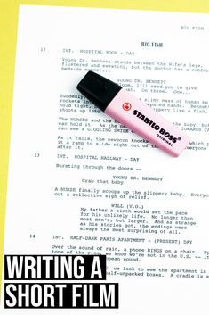 Writing a short film is the first step for many aspiring screenwriters. In this article, you will learn about screenwriting basics with script writing examples.  screenwriting | script writing | film making tips | filmmaker advice | screenwriter