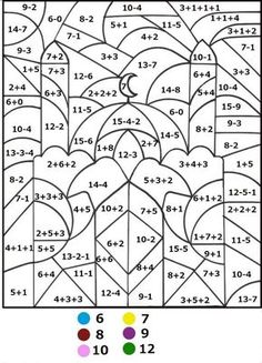 Math Coloring Pages Mathcoloringpagesbynumber343  Colornumber For Adults And .