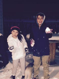 Yeah snow with my cousin