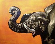Orange Elephant #joshbrownfineart