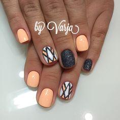Nails gel, we adopt or not? - My Nails Nail Art Diy, Diy Nails, Cute Nails, Pretty Nails, Orange Nail Designs, Cool Nail Designs, Fingernail Designs, Color Street Nails, Stylish Nails