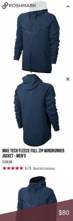 Nike Tech Jacket **NEW**  MEN Nike Tech Fleece Full Zip Windrunner Jacket  MAKE AN OFFER Nike Jackets & Coats