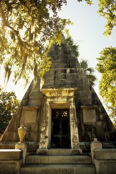 The W. B. Smith Pyramid is one of about 30 surviving pyramid mausoleums in the U.S. It was built during the exotic Egyptian Revival period of the mid-19th century.Magnolia Cemetery, Charleston, SC