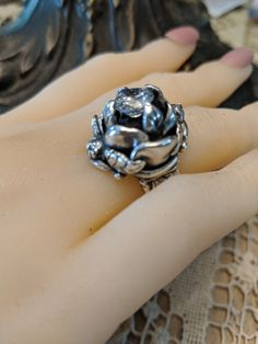 Artisan Jewelry, Heart Ring, Rings, Floral, Ring, Flowers, Heart Rings, Jewelry Rings, Flower