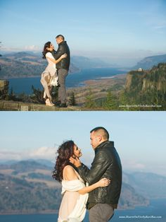 You just can't beat the view from the Women's Forum of Crown Point and the whole Gorge.   Romantic Columbia Gorge marriage session | Heartson FIre by Kari Rae, Portland Oregon Couples Photographer, love photographer