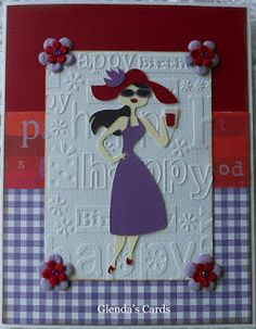 Glenda's Cards: Card for a Red Hat Lady