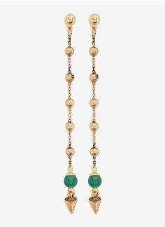 Ela StoneBeaded chain earrings
