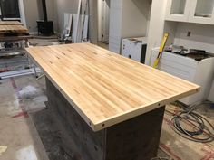 Bowling alley slab island : Carpentry Wood Plans, Woodworking Wood, Bowling, Carpentry, Home Projects, Wood Crafts, Repurposed, Island, Tables