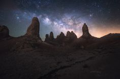 https://flic.kr/p/UQADY8 | Space Soldiers | Trona Pinnacles easily one of my favorite spots to shoot landscape images. If the sunsets and sunrises aren't interesting, you can always look forward to shooting the night sky. This was my favorite Milky Way images from this night. Went spent a few hours walking around the tufa formations playing with different Milky Way compositions. There were plenty of other night sky photographers out but, thankfully there weren't crowds of them shining lights…