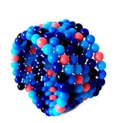Pink and blue beaded wrap bracelet beaded bauble by NezDesigns, $20.00