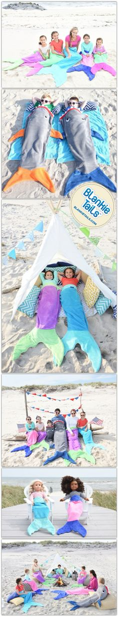Swim into Summer with Blankie Tails™ ultra cozy Mermaid & Shark Blankets! #thesnuggleisreal