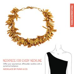 A neckpiece for every neckline: Offset your asymmetrical neckline with a symmetrical neckpiece like this #fringe cluster #necklace from Funk & Co.: http://www.theblingstreet.com/jewellery/necklaces/fringe-cluster-necklace-fuokoan012-funkco  #accessories #bling #theblingstreet #neckpiece #neckline