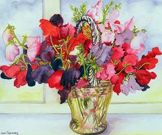 Joan Thewsey, Sweet Peas in a Vase