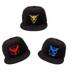 58d32f4f708 Cosplay Mobile game Pokemon Go Team Valor Team Mystic Team Instinct  snapback baseball Cap hat
