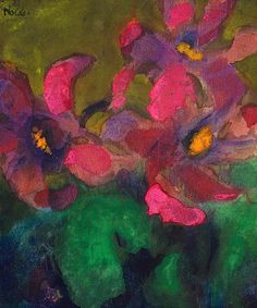 1935~1940 Emile Nolde (German~Danish 1867~1956) | He was one of the first Expressionists, a member of Die Brücke.