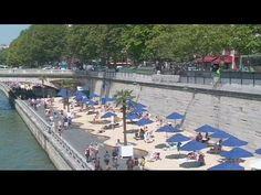 Paris plage, a golden beach along the River Seine