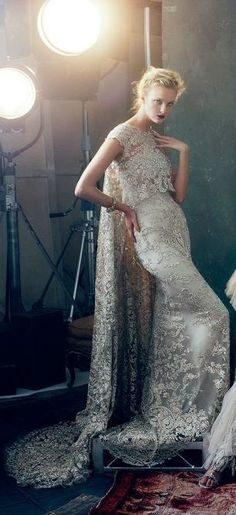 Beautiful Ivory wedding gown / dress / Marchesa Bridal - Vogue February 2013