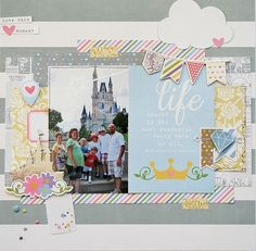 Layout created by design team member Wendy Antenucci.  The picture perfect collection for your princess; after all, everyone deserves a little happily ever after!