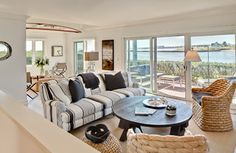 """""""S"""" Condo Renovation - beach style - living room - other metro - by Bowley Builders"""