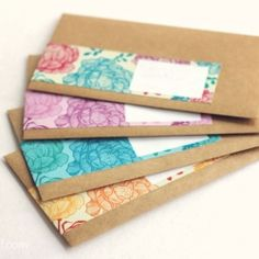 wrap around labels for envelopes
