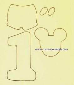 Cómo hacer un centro de mesa de mickey mouse en foami ~ cositasconmesh