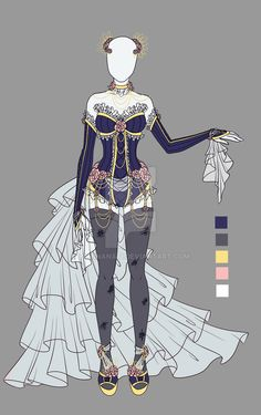 Adoptable outfit 8(closed) by LaminaNati.deviantart.com on @DeviantArt