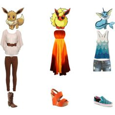Eevee Evolution Outfits 1
