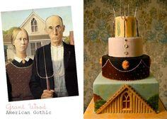 Cake Art Inspired by Masterpieces American Gothic