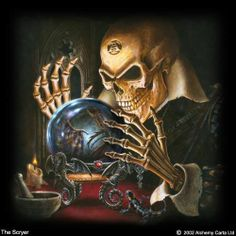 Skeleton fortune teller
