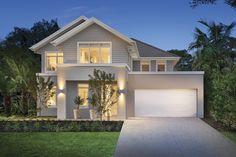 House Design: brookwater - Porter Davis Homes Dream House Exterior, Exterior House Colors, Exterior Design, Hamptons Style Homes, Hamptons House, Facade House, House Facades, House Exteriors, Rendered Houses