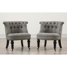 Parisian Gray Linen Chair - Dot & Bo