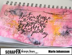 Create without limits: Don´t Waste Art Journal Spread - Scrap FX Design Team