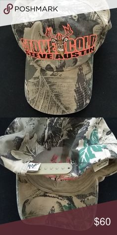 41a2dfefa3a Vintage 1999 WWF Stone Cold Steve Austin Camo Hat