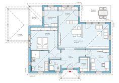 Grundriss, Bungalow 133, 135,42 m²