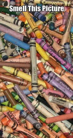 I haven't been near crayons for years, but still, when seeing this I instantly remembered that scent