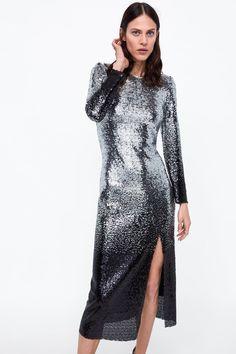 b9cf00d89300 Image 2 of OMBRÉ SEQUIN DRESS from Zara Look Com Vestido