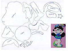 Muñeca foamy 6 Foam Crafts, Diy And Crafts, Paper Crafts, Paper Piecing Patterns, Doll Patterns, Diy Magnets, Decorate Notebook, School Gifts, Felt Diy