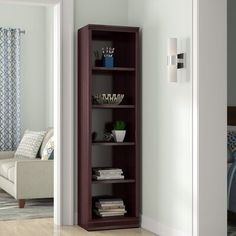 Ebe Design- Cubed Shelf Storage-Wood Five Open Cubbies Adjustable Shelves-Color Royal Cherry- Storage Space, Style, Essential for Organizing Adjustable Shelving, Open Shelving, Shelves, Shelving Units, Cubbies, Cube Storage, Storage Spaces, Tall Cabinet Storage, Cube Bookcase