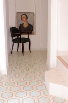Source: Popham Tiles How serene is this shot? and those tiles? They are by the masters of patterned cement tiles Popham Designs. I've worked with Popham a fair bit, especially when they were fairly new to the industry many years ago and it's been a. Linoleum Flooring, Brick Flooring, Living Room Flooring, Bedroom Flooring, Carpet Flooring, Concrete Floors, Vinyl Flooring, Cement Tiles, Penny Flooring