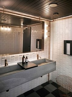 restaurant bathroom 36 Elegant Industrial Bathroom Design Ideas On A Budget - When it comes to industrial design, there are a number of things that all contractors involved must be aware of if they want to ensure the success of . Industrial Bathroom Design, Industrial Toilets, Bathroom Interior, Restaurant Bad, Restaurant Bathroom, White Bathroom, Modern Bathroom, Small Bathroom, Bathroom Ideas