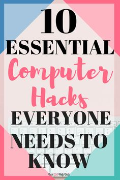 Computers are here to stay! You might as well learn these 10 essential computer hacks that everyone needs to know. hacks, 10 Basic Computer Tips and Keyboard Shortcuts That Will Save You So Much Time Computer Shortcut Keys, Computer Basics, Computer Coding, Computer Help, Computer Keyboard, Computer Tips, Computer Hacking, Computer Gadgets, Tech Gadgets