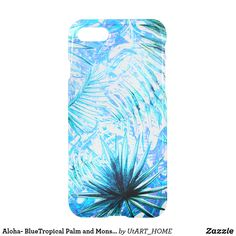 Aloha- BlueTropical Palm and Monstera Garden iPhone 8/7 Case This pretty floral Aloha- BlueTropical Palm and Monstera Garden pattern is for all Aloha and Exotic Lovers. A beautiful and abstract fresh blue and tropic Design. Perfect for your summer. It is the perfect gift for her or him, for the stylish lady, perfect for her birthday, sweet sixteen favor, bridal shower, perfect summer gift for her, the girly girly and modern fashionista or any occasion! Designed with LOVE by UtART