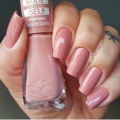 Nude Nails, Nail Manicure, Acrylic Nails, Gel Nails, Blush Nails, Mexican Nails, Uñas Fashion, Minimalist Nails, Nail Polish Colors