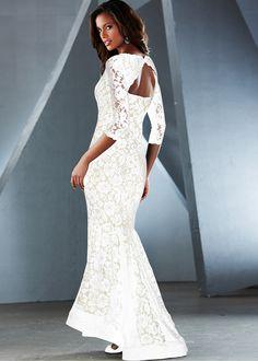Vestido tubinho de renda longo preto encomendar agora na loja on-line bonprix.de  R$ 239,00 a partir de Para uma produção glamourosa! Vestido de noite ...