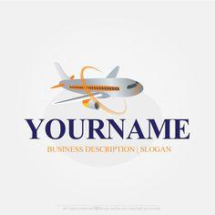 Free Logo Maker – Travel Plane logo design
