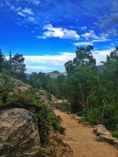 Hiking Trail at Bear Lake in Estes Park, Colorado.