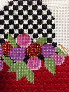 steph's stitching: Kelly Clark MacKensie Childs-Style Needlepoint Pear